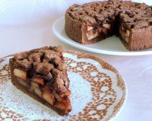 Яблочный пирог с шоколадом