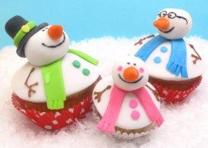 Кексы «Снеговики»