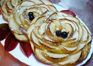Сдобные тарталетки с яблоками