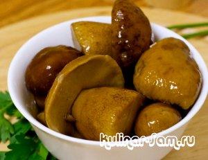 Вкусные грибы под водочку: соленые боровички