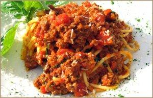 Спагетти с шампиньонами в сливочном соусе. Рецепт с фото